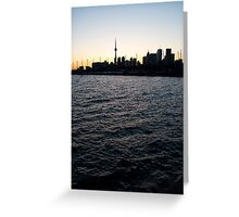 Toronto Harbour, Downtown & Polson Quay From Cherry Street Greeting Card