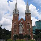 Catholic church in Saigon by machka