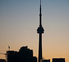 CN Tower in Silhouette by Gary Chapple