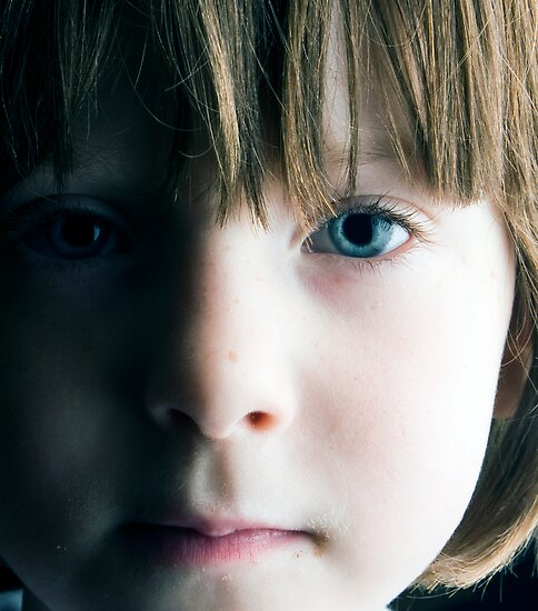 Low Key Childs Portrait by Robert Ellis