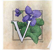 V is for Violet Poster