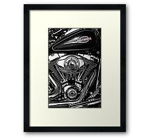 Chrome Harley Framed Print