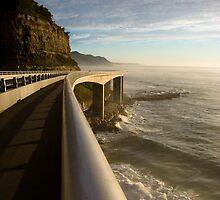 Railing - Seacliff Bridge, Illawarra, Australia by Cameron Booth