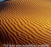 Possibility - Golden Desert Dunes with Quote by Andrea Robinson