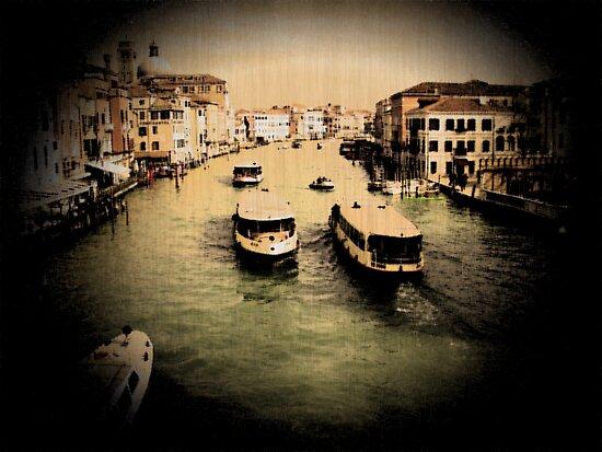 Boats at Venice by Sunil Bhardwaj