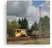 Cranzahl Station - The Snowplow Metal Print