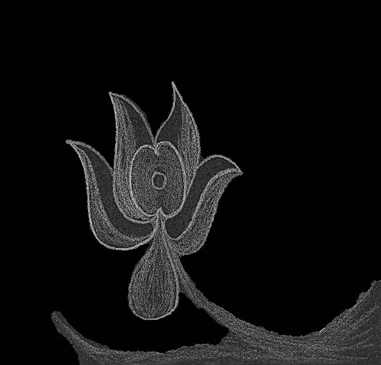 Lonely Dark Flower by KazM