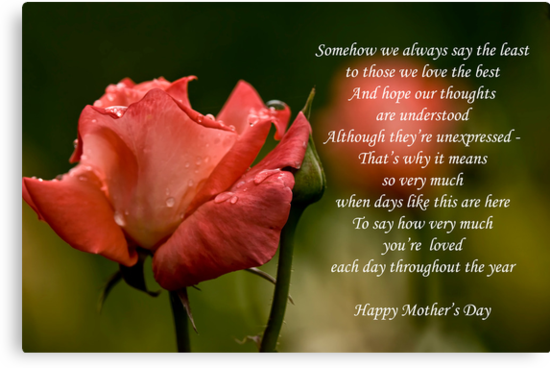 Mother's Day Card 5 by Michael Cummings