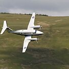 King Air 250 G-RAFP low flying and almost knife edge by Peter Talbot