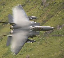 USAF F15 Strike Eagle - low and pulling vapour by Peter Talbot