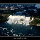Niagara Falls/Maid of The Mist Boat - Aerial View by Rose Santuci-Sofranko