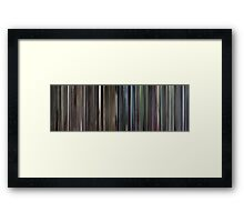 Moviebarcode: Requiem for a Dream (2000) Framed Print