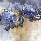 Bugatti 51 Alfa Romeo 8C 1933 Monaco GP by Yuriy Shevchuk