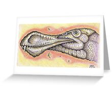 The Face of a Pterosaur Greeting Card