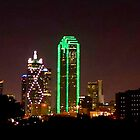 Dallas Nighttime Skyline by Ron Deage