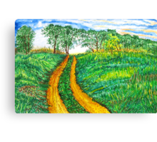 The Dirt Road-Homage to van Gogh. Canvas Print