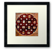 The Orange Plate (Collagraph 2) Framed Print