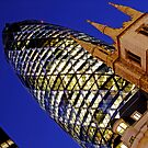 London Gherkin in a Blue Night by DavidGutierrez