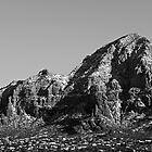 Snow Capped Red Rocks in Black & White by Craig Durkee