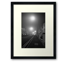 Foggy Brighton Night Framed Print