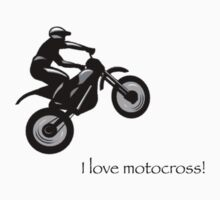 I love motocross t-shirt 2 (black logo) by Spartiatis75
