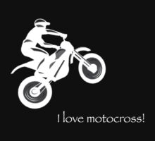 I love motocross t-shirt 2 (white logo) by Spartiatis75