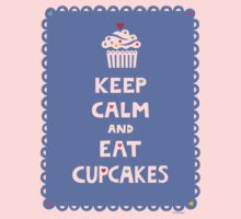 Keep Calm and Eat Cupcakes - frilly Kids Clothes