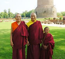 Venerable Khenchen Palden Sherab Rinpoche, Venerable Khenpo Tsewang Dongyal Rinpoche and Pema by dcphotos