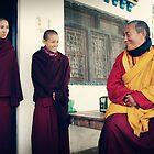 Yangchen, Tenzin and Venerable Khenchen Palden Sherab Rinpoche by dcphotos