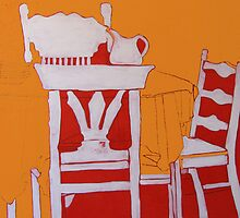 KITCHEN TABLE AND CHAIRS by Linda Arthurs