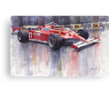 Ferrari 126C 1981 Monte Carlo GP Gilles Villeneuve Canvas Print