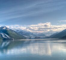 early morning at College Fiord Glacier by KathleenRinker