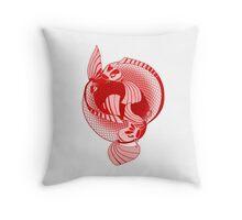 Rising Sun Print Throw Pillow