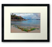 Secret Harbor Framed Print
