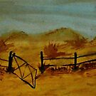 Opps Gate was Left Open! watercolor by Anna  Lewis