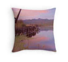 The Old Mill Pond   Throw Pillow