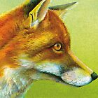 Portrait of a fox by Sarah Trett