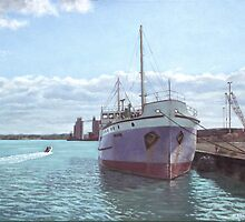 Southampton docks SS Shieldhall ship by martyee