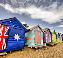 Brighton Beach Bathing Boxes by Kat36