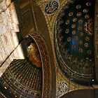 Inside the Alabaster Mosque of Muhammad Ali - Cairo by Marilyn Harris