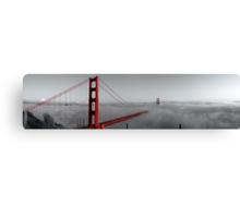 Golden Gate Bridge — Black and Red Canvas Print