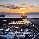 Seahouses Sunset by Dave Lawrance