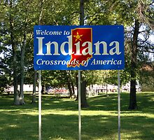 Indiana Welcome Sign by chris-csfotobiz