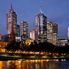 Melbourne By Night by Barb Leopold