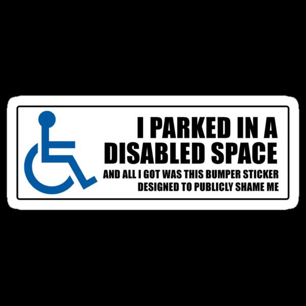 Disabled parker's revenge by Tim Norton
