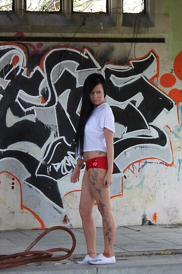 """"""" I got graffiti on me as well as on the walls """". by Poverty"""