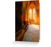 Abbey Crypt Greeting Card