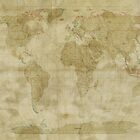 World Map Antique Style by ArtPrints