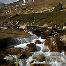 Torrent in Cherkanak valley, Talas Range, Tien-Shan, Kyrgyzstan by Michal Cerny
