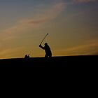 Golf at dusk by Peter Davies
